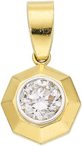 Estate Jewelry:Pendants and Lockets, Diamond, Gold Pendant. ...