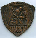 Expositions and Fairs, 1918 Illinois International Livestock Exposition, Award Medal, Uncertified. Awarded to champion sheep carcass. Bronze, trian...