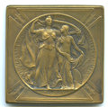 Expositions and Fairs, 1904 Louisiana Purchase Exposition, Silver Medal, Uncertified.Hendershott-30-50. Bronze, plain edge, 65 x 65 mm. Accompanie...