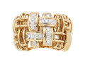 Estate Jewelry:Rings, Gentleman's Diamond, Gold Ring, Garavelli . ...
