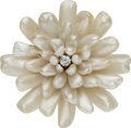 Estate Jewelry:Brooches - Pins, Diamond, Freshwater Cultured Pearl, Gold Brooch, Chas S. Crossman& Company. ...