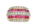 Estate Jewelry:Rings, Diamond, Pink Tourmaline, Gold Ring . ...