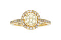 Estate Jewelry:Rings, Diamond, Gold Ring The ring features a hexagon...