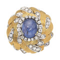 Estate Jewelry:Rings, Star Sapphire, Diamond, Gold Ring, Nardi . ...