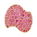 Estate Jewelry:Rings, Pink Sapphire, Gold Ring, Van Cleef & Arpels, French