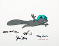 Animation Art:Presentation Cel, The Rocky and Bullwinkle Show Rocket J. Squirrel Signed Scene Cel (Jay Ward, 1989)....