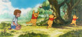 Animation Art:Production Cel, Pooh's Grand Adventure Christopher Robin and Winnie the PoohProduction Cel Sequence Setup with Master Pan Production ...