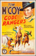 "Movie Posters:Western, Code of the Rangers (Monogram, 1938). One Sheet (27"" X 41"").Western.. ..."