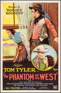 """The Phantom of the West (Mascot, 1931). One Sheet (27"""" X 41"""") Chapter 10 -- """"Rogues' Roundup."""" Seria..."""