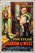 """Movie Posters:Serial, The Phantom of the West (Mascot, 1931). One Sheet (27.25"""" X 41"""") Chapter 9 -- """"The Fatal Secret."""" Serial.. ..."""