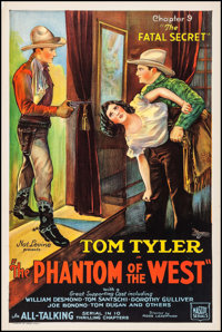 """The Phantom of the West (Mascot, 1931). One Sheet (27.25"""" X 41"""") Chapter 9 -- """"The Fatal Secret."""" Se..."""