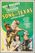 "Movie Posters:Western, Song of Texas (Republic, 1943). Fine/Very Fine on Linen. One Sheet (27"" X 41""). Western.. ..."
