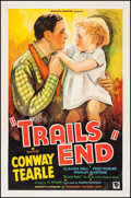 """Movie Posters:Western, Trails End (Beaumont, 1935). One Sheet (27"""" X 41""""). Western.. ..."""