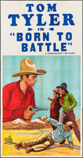 """Movie Posters:Western, Born to Battle (Screencraft, R-1930s). Stock Three Sheet (41"""" X 78.5""""). Western.. ..."""