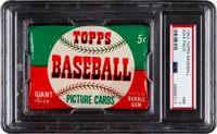 1952 Topps Baseball 5-Cent Unopened Wax Pack PSA NM 7