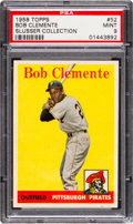Baseball Cards:Singles (1950-1959), 1958 Topps Bob Clemente (White Letters) #52 PSA Mint 9 - Only Two Higher.. ...