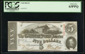 Confederate Notes:1863 Issues, T60 $5 1863 PF-20 Cr. 458.. ...