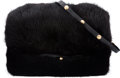 "Luxury Accessories:Accessories, Louis Vuitton Black Mink Hand Muff. Condition: 2. 9.5 Length"" x 6"" Width x 4.5"" Depth. ..."