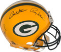 Football Collectibles:Helmets, 1990's Green Bay Packers Legends Multi-Signed Full Sized Authentic Helmet....