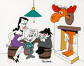 "Animation Art:Limited Edition Cel, Rocky and Bullwinkle ""Sneaky Plan"" Limited Edition Cel#68/300 (Jay Ward, 1988)...."