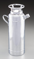 Decorative Arts, American, A Thirst Extinguisher Chromed Cocktail Shaker. 10-1/2 incheshigh x 3-1/2 inches diameter (26.7 x 8.9 cm). ...