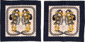 """Luxury Accessories:Accessories, Set of Two Hermes Brides De Gala Scarves with Hearts. Condition: 1. 16.25"""" Height x 16.25"""" Width. ... (Total: 2 Items)"""