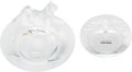 Luxury Accessories:Home, Lalique Set of Two: Lion and Tiger Ash Trays. Condition: 2.... (Total: 2 Items)