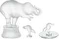 Luxury Accessories:Home, Lalique Set of Three: Elephant Home Accents. Condition: 1.... (Total: 3 Items)