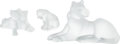 Luxury Accessories:Home, Lalique Set of Three: Lions and Tiger Figurines .Condition:1 . ... (Total: 3 Items)