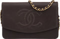"Luxury Accessories:Accessories, Chanel Brown Caviar Leather Timeless Wallet on Chain Bag. Condition: 4. 7.5"" Width x 5"" Height x 0.5"" Depth. ..."