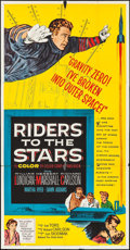"Movie Posters:Science Fiction, Riders to the Stars (United Artists, 1954). Three Sheet (41"" X 80""). Science Fiction.. ..."