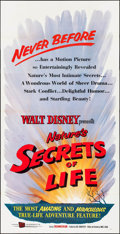 """Movie Posters:Documentary, Secrets of Life & Others Lot (Buena Vista, 1956). Three Sheets (2) (42"""" X 82"""" & 41"""" X 84"""") & One Sheet (27"""" X 40""""). Document... (Total: 3 Items)"""