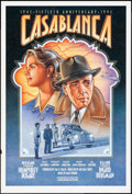 "Movie Posters:Academy Award Winners, Casablanca (Warner Brothers, R-1992). Rolled, Very Fine-. 50th Anniversary One Sheet (27"" X 39.75"") Dudek Laslo Artwork. Aca..."