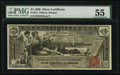 Large Size:Silver Certificates, Fr. 224 $1 1896 Silver Certificate PMG About Uncirculated 55.. ...