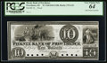 Obsoletes By State:Rhode Island, Providence, RI- Phenix Bank of Providence $10 G32 Durand 1819 Proof. ...
