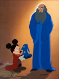 "Animation Art:Limited Edition Cel, Fantasia/Fantasia 2000 ""A Lesson Learned"" Sorcerer's Apprentice Mickey Mouse Limited Edition Cel #180/300 (Walt Disney..."