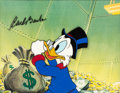 Animation Art:Production Cel, DuckTales Uncle Scrooge McDuck Production Cel Signed by Carl Barks (Walt Disney, 1987)....