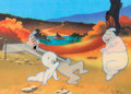 Animation Art:Production Cel, The New Casper Cartoon Show Casper and Ghostly TrioProduction Cel Setup and Animation Drawing(Harveytoons/Paramount,... (Total: 2 Items)