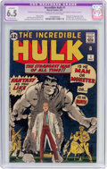 Silver Age (1956-1969):Superhero, The Incredible Hulk #1 (Marvel, 1962) CGC Apparent FN+ 6.5Extensive (P) Off-white to white pages....
