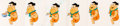 Animation Art:Production Cel, The Flintstones Fred Flintstone Fruity Pebbles TV Commercial Production Cel Sequence with Animation Drawings (Hanna-Ba... (Total: 13 Items)