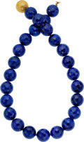 Estate Jewelry:Necklaces, Lapis Lazuli, Gold Necklace, Frank Ancona. ...