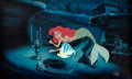 Animation Art:Production Cel, The Little Mermaid Ariel and Flounder Production Cel Setup(Walt Disney, 1988)....