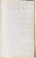Military & Patriotic:Civil War, Civil War: Ledger for the 37th Illinois Volunteer Infantry, Company A, Which Includes Rosters, Details of Killed and Wounded, ...
