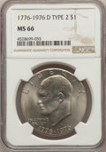 Eisenhower Dollars, (4)1976-D $1 Type Two MS66 NGC. NGC Census: (518/22). PCGS Population: (926/28). CDN: $45 Whsle. Bid for problem-free NGC/P... (Total: 4 item)