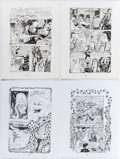 "Original Comic Art:Complete Story, Dame Darcy Meat Cake #10 Complete 4-Page Story ""Silver Lining"" Original Art (Fantagraphics, 2000).... (Total: 4 Original Art)"