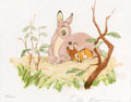 """Animation Art:Poster, Ollie Johnston """"Bambi and Mother"""" Signed Limited Edition Print#88/500 (Walt Disney, 1990)...."""