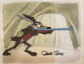 Animation Art:Production Cel, Rabbit's Feat Wile E. Coyote Production Cel and Production Background (Warner Brothers, 1960s)....
