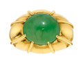 Estate Jewelry:Rings, Gentleman's Jadeite Jade, Gold Ring, Mason-Kay. ...