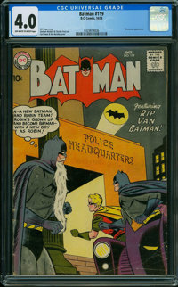 Batman #119 (DC, 1958) CGC VG 4.0 OFF-WHITE TO WHITE pages