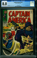 Silver Age (1956-1969):Superhero, Captain America #108 (Marvel, 1968) CGC VF 8.0 OFF-WHITE TO WHITEpages.